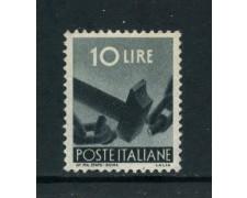 1945 - REPUBBLICA - 10 LIRE DEMOCRATICA - NUOVO - LOTTO/30420