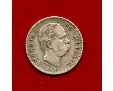 1899 - REGNO  D'ITALIA - 1 LIRA ARGENTO STEMMA - UMBERTO I° - LOTTO/M30985