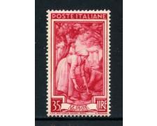 1950 - REPUBBLICA - 35 LIRE ITALIA AL LAVORO - NUOVO - LOTTO/30427