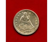 1858 - STATI UNITI - QUARTO DI DOLLARO ARGENTO - LOTTO/M30990