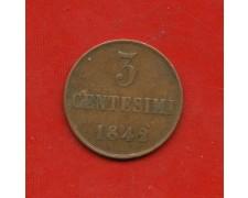1842 - REGNO DI SARDEGNA - 3 CENTESIMI CARLO ALBERTO  - LOTTO/M31008