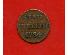 1784 - OLANDA -  1 DUIT 1784 UTRECHT - LOTTO/M31012