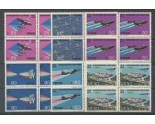 1973 - LOTTO/6575Q - REPUBBLICA - AERONAUTICA MILITARE 6v. - QUARTINE NUOVI