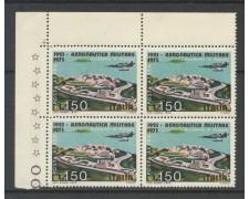 1973 - REPUBBLICA - 150 LIRE AERONAUTICA POSTA AEREA - QUARTINA NUOVI - LOTTO/6575AQ