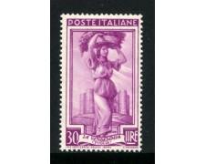 1955 - REPUBBLICA - 30 LIRE ITALIA AL LAVORO FILIGRANA STELLE - NUOVO - LOTTO/31657