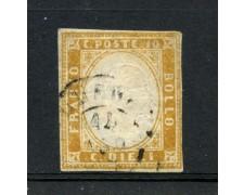1862 - REGNO DI SARDEGNA . 10c. BISTRO ARANCIO - USATO - LOTTO/30250