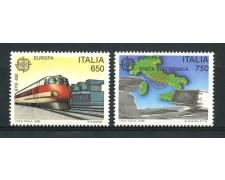 1988 - REPUBBLICA - EUROPA MEZZI DI TRASPORTO 2v. - NUOVI - LOTTO/30268