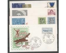 1973 - REPUBBLICA - ANNATA COMPLETA DI 45 FRANCOBOLLI SU 34 BUSTE PRIMO GIORNO - LOTTO/32008