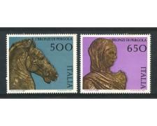1988 - REPUBBLICA - I BRONZI DI PERGOLA 2v. - NUOVI - LOTTO/30270