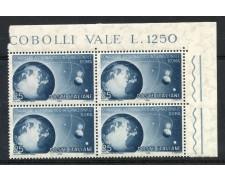 1956 - REPUBBLICA - CONGRESSO ATRONAUTICO - QUARTINA - NUOVI - LOTTO/6307Q
