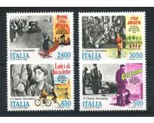 1988 - REPUBBLICA - IL CINEMA ITALIANO 4v. - NUOVI - LOTTO/30272