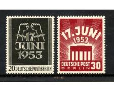 1953 - GERMANIA BERLINO - INSURREZIONE 2v. - NUOVI - LOTTO/31023