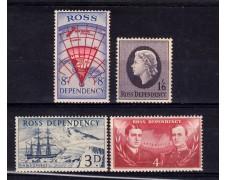 1957 -  ROSS DEPENDENCY - SPEDIZIONE NEO ZELANDESE 4v. - NUOVI