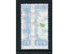 1957 - REPUBBLICA - 60 LIRE EUROPA VARIETA' DECALCO - USATO - LOTTO/24776