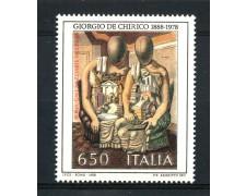 1988 - REPUBBLICA - PATRIMONIO ARTISTICO - DE CHIRICO - NUOVO - LOTTO/30265