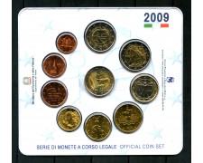2009 ITALIA - SERIE COMPLETA EURO IN CONFEZIONE DELLA ZECCA 10v. - LOTTO/M30648