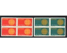 1970 - LOTTO/6525Q - REPUBBLICA - EUROPA 2v. - QUARTINE - NUOVI