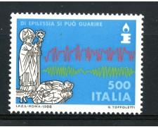 1988 - REPUBBLICA - LOTTA CONTRO L'EPILESSIA - NUOVO - LOTTO/30267