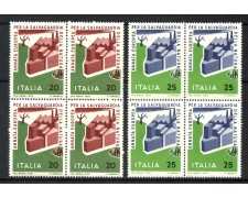 1970 - LOTTO/6535Q - REPUBBLICA - SALVAGUARDIA NATURA 2v. - QUARTINE NUOVI