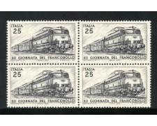 1970 - LOTTO/6536Q - REPUBBLICA - GIORNATA FRANCOBOLLO - QUARTINA NUOVI