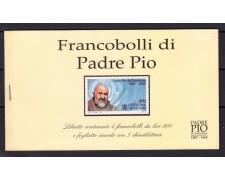 1999 - VATICANO - LIBRETTO FRANCOBOLLI DI PADRE PIO - NUOVO - LOTTO/1704