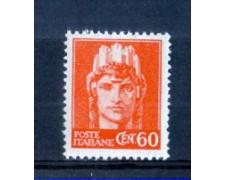 1945 - LOTTO/LUO539N - LUOGOTENENZA - 60c. ARANCIO - NUOVO