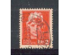 1945 - LOTTO/LUO541U - LUOGOTENENZA - 2 LIRE CARMINIO - USATO
