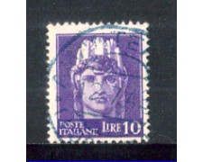 1945 - LOTTO/LUO542U - LUOGOTENENZA - 10 LIRE VIOLETTO - USATO