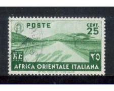 1938 - LOTTO/AOI7U - AFRICA ORIENTALE - 25c. VERDE - USATO