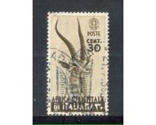 1938 - LOTTO/AOI8U - AFRICA ORIENTALE - 30c. BRUNO - USATO