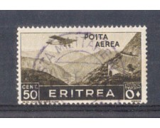 1936 - LOTTO/ERITA18U - ERITREA - 50c. POSTA AEREA - USATO