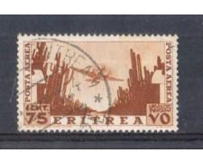 1936 - LOTTO/ERITA20U - ERITREA - 75c. POSTA AEREA - USATO