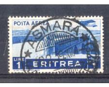 1936 - LOTTO/ERITA21U - ERITREA - 1 LIRA POSTA AEREA - USATO
