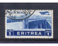 1936 - LOTTO/ERITA21UC - ERITREA - 1 LIRA POSTA AEREA - USATO