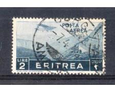 1936 - LOTTO/ERITA23U - ERITREA - 2 LIRE POSTA AEREA - USATO