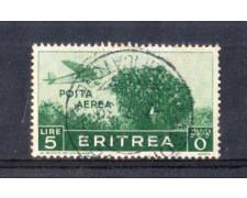 1936 - LOTTO/ERITA25U - ERITREA - 5 LIRE POSTA AEREA - USATO