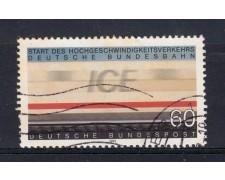1991 - GERMANIA FEDERALE - 60p. TRENO ALTA VELOCITA' - USATO - LOTTO/31245U