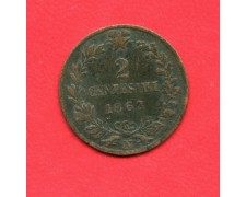 1862 - REGNO - 2 CENTESIMI ZECCA DI NAPOLI VITTORIO EMANUELE II° - LOTTO/M32345