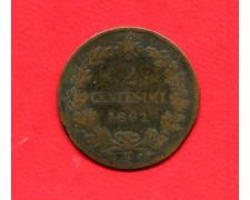 1862 - REGNO - 2 CENTESIMI ZECCA DI NAPOLI VITTORIO EMANUELE II° - LOTTO/M32346