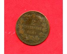 1861 - REGNO - 2 CENTESIMI ZECCA DI NAPOLI VITTORIO EMANUELE II° - LOTTO/M32347