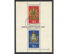 1973 - GERMANIA - ESPOSIZIONE FILATELICA  IBRA 73 - FOGLIETTO USATO - LOTTO731035U