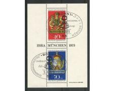 1973 - GERMANIA - ESPOSIZIONE FILATELICA IBRA 73 - FOGLIETTO USATO FDC - LOTTO/31035F