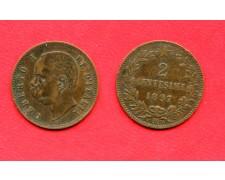 1897 - REGNO - 2 CENTESIMI ZECCA DI ROMA UMBERTO I° - LOTTO/M32349