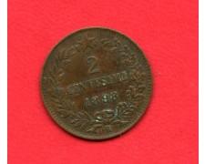 1898 - REGNO - 2 CENTESIMI ZECCA DI ROMA UMBERTO I° - LOTTO/M32350