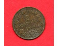 1905 - REGNO - 2 CENT. VITTORIO EMANUELE III° - LOTTO/M32354