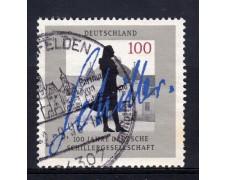 1995 - GERMANIA FEDERALE - 100p. SCHILLERGESELLSCHAFT - USATO