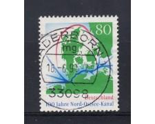 1995 - GERMANIA FEDERALE - 80p. CANALE KIEL - USATO - LOTTO/31229