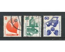 1971 - GERMANIA - PREVENZIONE INFORTUNI 3v. - USATI - LOTTO/31052U