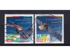 1991 - GERMANIA FEDERALE - EUROPA 2v. - USATI - LOTTO/31242U