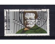1991 - GERMANIA FEDERALE - 100p. MAX REGER - USATO - LOTTO/31244U